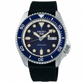 【台南 時代鐘錶 SEIKO】精工 5 Sports 系列機械錶 SRPD71K2@4R36-07G0L 藍/黑 42.5mm