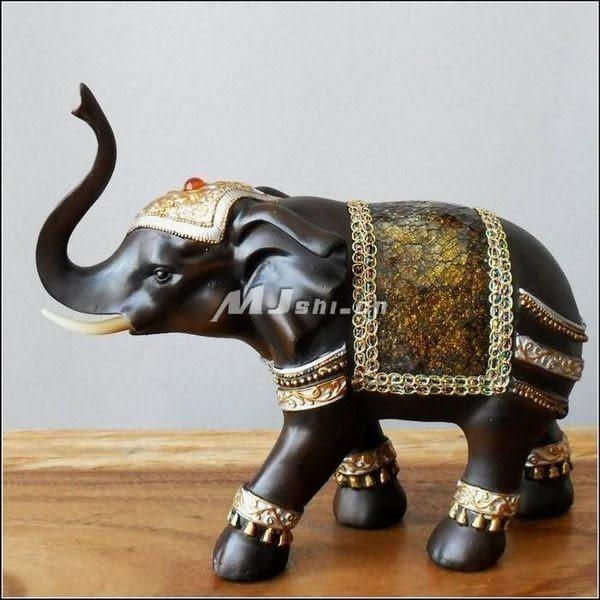 工藝品   木雕 泰國 樹脂大象掛件
