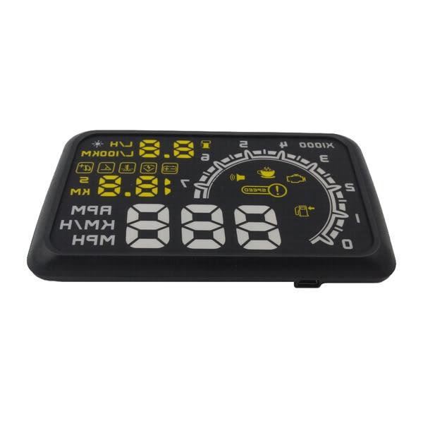 送高清反射膜&升級版HUD5.5吋大營幕 OBD2 HUD抬頭顯示器 水溫 超速警示 電壓【C-OBD】