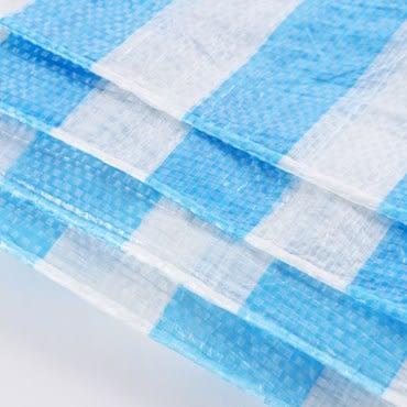 PE藍白防水帆布 20x20尺