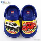 童鞋城堡-Tomica多美小汽車 警車X消防車不對稱款 男童花園鞋 TM1804 藍