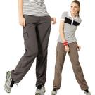 【SAMLIX 山力士】女 抗UV透氣休閒褲(#W202綠卡色.鐵灰色)