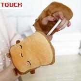 USB手套TOUCH USB加熱保暖手套 可愛面包款 加熱 電熱卡通情侶手套多莉絲