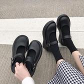 JK鞋 insJK鞋女英倫復古圓頭厚底增高黑色日系JK瑪麗珍單鞋 夏季上新