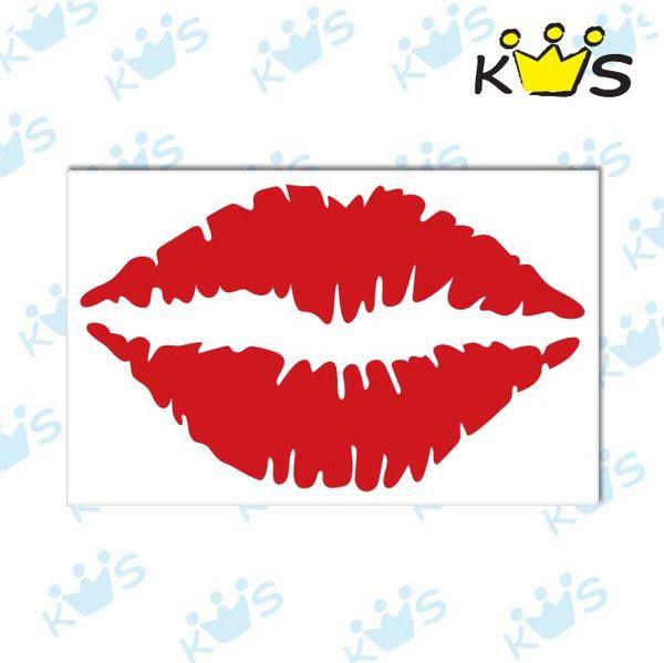 【浮雕貼紙】唇印 # 壁貼 防水貼紙 汽機車貼紙 5.2cm x 3.2cm