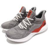 adidas 慢跑鞋 AlphaBOUNCE Beyond M 灰 紅 無接縫彈性鞋面 舒適緩震 男鞋 運動鞋【PUMP306】 AC8625