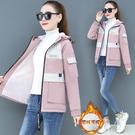 韓版外套羽絨外套 顯瘦加厚冬季上衣 百搭寬鬆夾克外套加絨 工裝棉服女生外套 學生女士外套