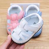 夏季真皮女寶寶涼鞋子軟底男嬰兒學步鞋防滑