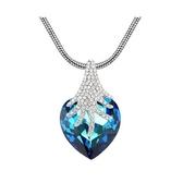 水晶項鍊+925純銀吊墜-森林狂想曲生日情人節禮物女飾品2色73bb299【時尚巴黎】