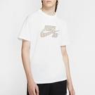 Nike SB 男裝 短袖 純棉 寬版 針織 羅紋領口 休閒 滑板 條紋 印花 白【運動世界】CW1463-100