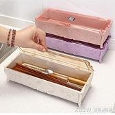 一件8折-麥秸稈環保筷子盒 家用 帶蓋瀝水筷子盒子餐具收納筷子筒筷子籠桶『新佰數位屋』