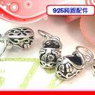 銀鏡DIY S925純銀配件/硫化染黑蝴...