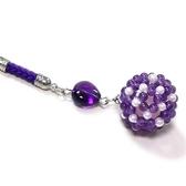 紫晶與貝珍珠彩球吊飾