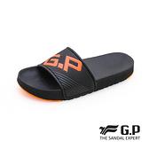 G.P(男)極簡風運動休閒直套拖鞋 男鞋-橘色