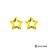 Jove gold 漾金飾 晨星黃金耳環-小