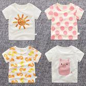 男小童女童夏季1女寶寶0嬰兒上衣短袖t恤兒童夏裝純棉半袖童裝3歲 沸點奇跡