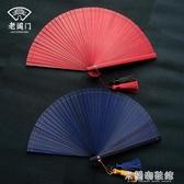 折疊扇子 夏季古風扇子折扇古典中國風女式迷你便攜折疊小扇子迷你 快速出貨
