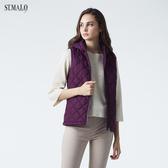 【ST.MALO】蘇格蘭菱格石墨烯蓄熱背心-1942WV-葡萄紫