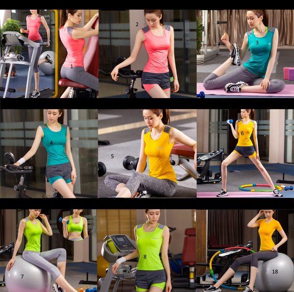 韓國春夏新款瑜伽服套裝三件套女短袖背心休閒運動跑步健身喻咖服   -cmx0018