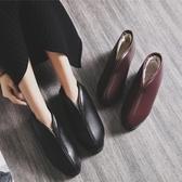 老北京皮棉鞋厚底棉拖鞋女男包跟冬季老人防水防滑居家居保暖室內 - 古梵希