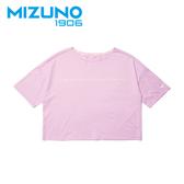 MIZUNO 女裝 短袖 1906 T恤 側邊LOGO 休閒 時尚 粉紫【運動世界】D2TA920367