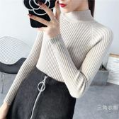 2018秋冬新款半高領套頭毛衣女韓版短款緊身針織上衣衫加厚打底衫潮