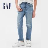 Gap男童時尚水洗做舊五口袋牛仔褲540190-復古破洞