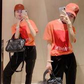 (批發價不退換)2312#夏裝新款大碼女裝胖mm寬松顯瘦短袖運動9分褲套裝F-4F088日韓屋