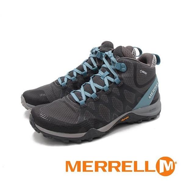 【南紡購物中心】MERRELL(女) SIREN 3 MID GORE-TEX高筒郊山健行鞋 女鞋 -灰藍