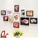 實木相片牆畫框美容院創意紋繡照片牆【5色混搭送美甲畫心】