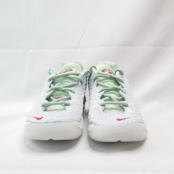 NIKE LEBRON XVIII NRG (PS) 中童 籃球鞋 CT4713002 淺灰x綠【iSport愛運動】