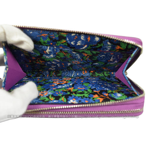茱麗葉精品 全新精品 COACH 57969 馬車LOGO防刮皮革手提雙層拉鍊中夾.粉紫