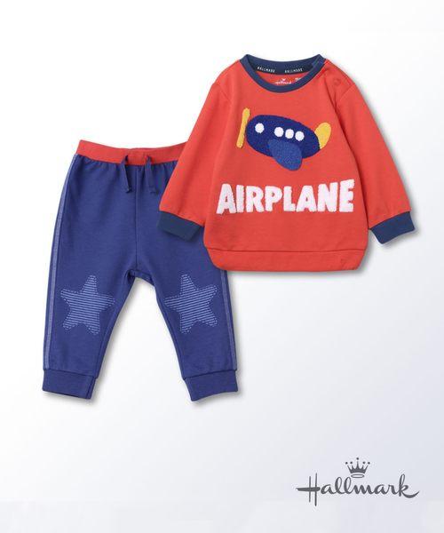 Hallmark Babies飛行夢男嬰純棉長袖上衣長褲套裝HG3-N01-05-BB-PO