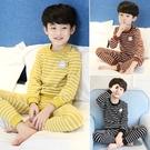 男童保暖內衣褲套組 兩件式條紋內衣褲套組