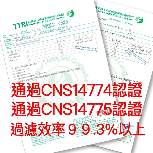 三層防護CNS國家標準認證 加厚熔噴布防護口罩-秋冬撞色限定版 限量發售