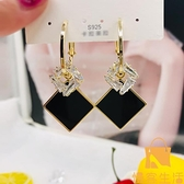 耳環幾何黑色長款流蘇耳墜女潮氣質韓國耳飾女【慢客生活】