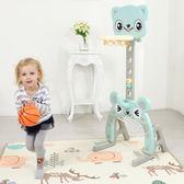 兒童室內籃球架 兒童籃球架可升降室內男孩女孩寶寶玩具1-6周歲家用球類投籃架子 歐萊爾藝術館