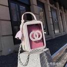 快速出貨 錬條手機包包女包新款時尚洋氣菱格斜背包包個性洋氣手提單肩包 【全館免運】