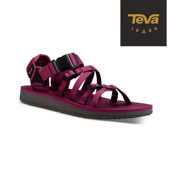 丹大戶外用品【TEVA】美國 女款 Alp Premier 經典緹花織帶涼鞋 1015182BYSB 莓果紫紅