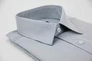 【金‧安德森】灰色易整燙暗紋涼感窄版短袖...