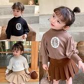 女童上衣T恤 韓版女童加絨泡泡袖加厚上衣