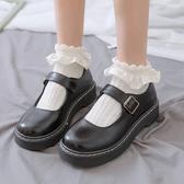 夏季薄款lolita網眼jk襪子女秋冬ins潮花邊短襪女淺口純色棉襪-米蘭街頭