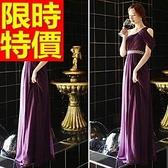 晚宴服-優雅個性修身單肩長款女晚禮服1色65c18【巴黎精品】