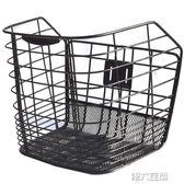 單車配件 電動車籃子折疊自行車筐山地車框單車前筐金屬配件帶蓋加粗鐵通用 MKS 第六空間