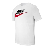 Nike 短袖T恤 Sportwear Logo TEE 白 紅 男款 棉質 【ACS】 AR5005-100