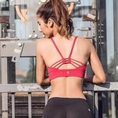 運動內衣 怪力少女 紅色專業美背運動背心文胸女 防震瑜伽定型內衣背心式【快速出貨】