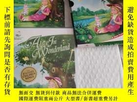 二手書博民逛書店wlice罕見in wonderland【alice in wonderland【1本書 DVD+cd 】見圖,