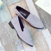 低跟鞋 新品單鞋女粗跟尖頭淺口鞋子淑女百搭正韓低跟學生四鞋 新款