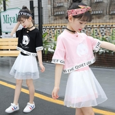 女童夏季洋氣套裝新款夏裝兒童裝韓版兩件套中大童時髦衣服潮  9號潮人館