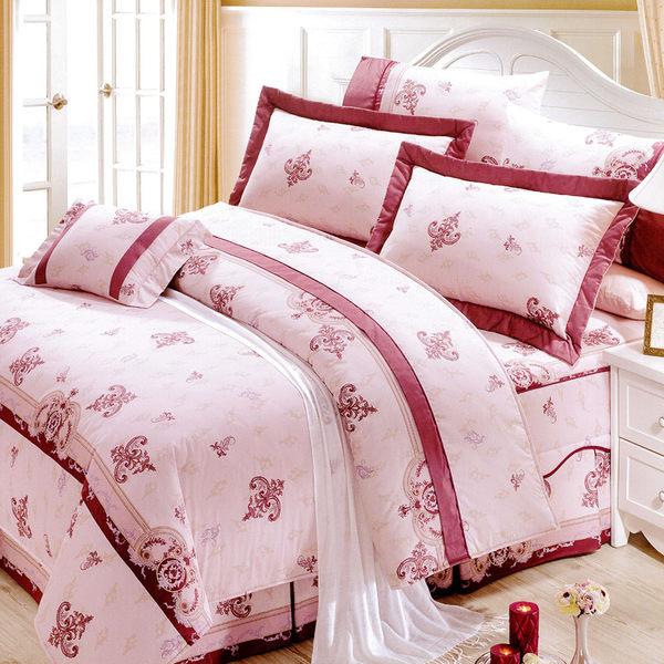花嫁系列-精梳純棉 兩用被床罩組 加大八件式-愛的旋律 /RODERLY